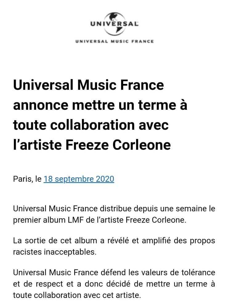 universal music france freesz corleone